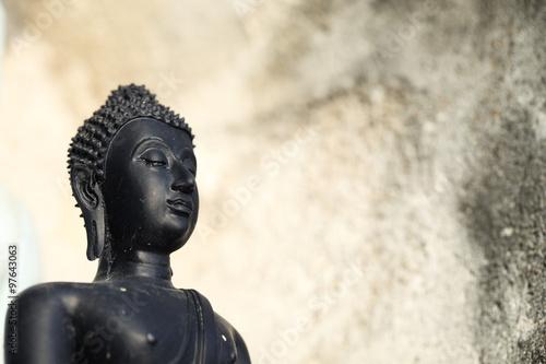 Tuinposter Boeddha buddha image with grunge background