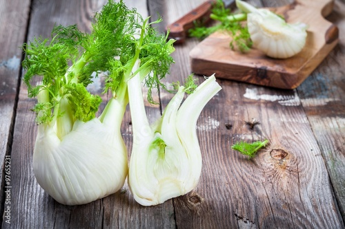 Fresh organic fennel