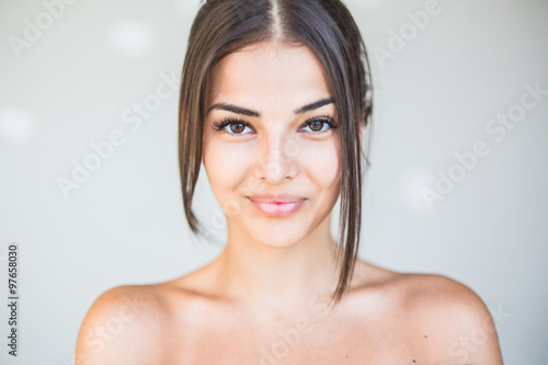Photographie  Close up portrait of beautiful young woman