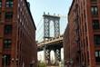 Manhattan Bridge from Brooklyn, New York, USA