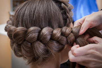 Fototapetaweaving braids brunette