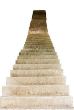 Stone Stairs Isolated