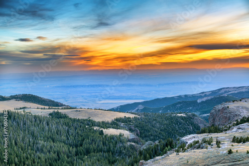 Sunset from the Bighorn Mountains Canvas Print