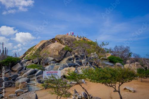 Deurstickers Canarische Eilanden Casibari Rock Formation in Aruba