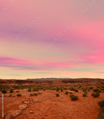 Wall Murals Cuban Red Sonora Desert Sunset