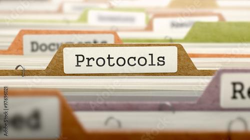 Fotografía  Protocols Concept on Folder Register.
