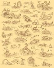 Monsters Art Illustration