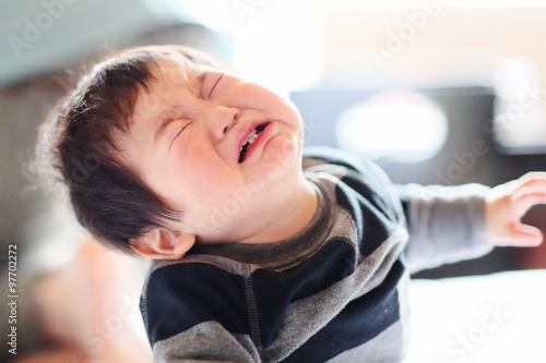 Fotografie, Obraz  泣く赤ちゃん