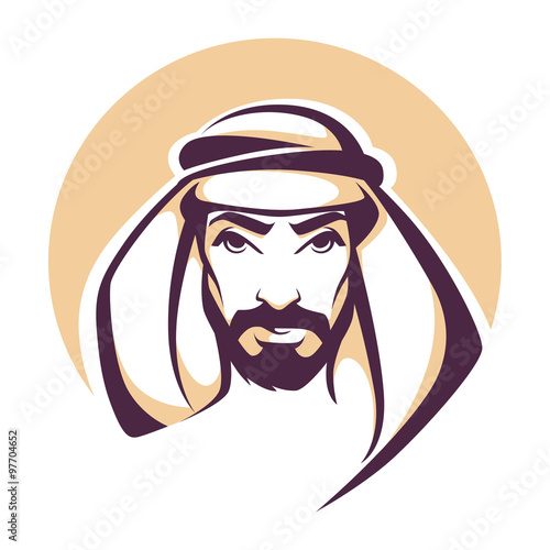handsome arabian man portrait Wallpaper Mural