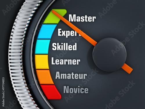 Billede på lærred Experience levels speedmeter