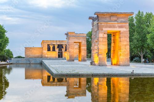 Foto  Temple de debod Madrid