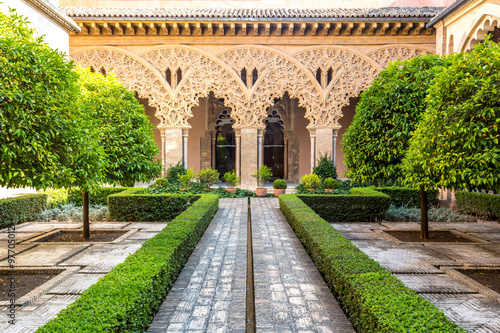 moorish garden Zaragoza Spain