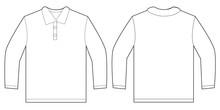 White Long Sleeve Polo Shirt D...
