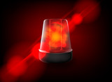 Red emergency flashing siren. Vector