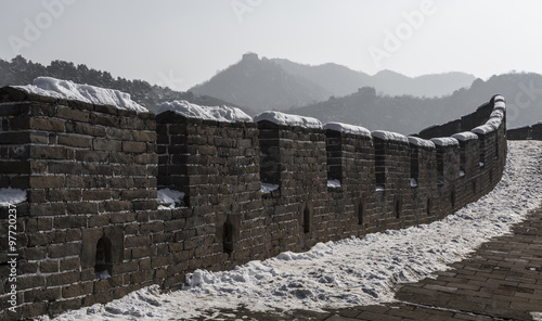 Fotografia Winter On The Great Wall Of China