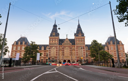 Front view on the state museum in Amsterdam, the Netherlands Canvas Print