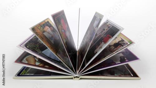 Obraz Foto książka, foto album, zdjęcia rodzinne, otwarty. - fototapety do salonu