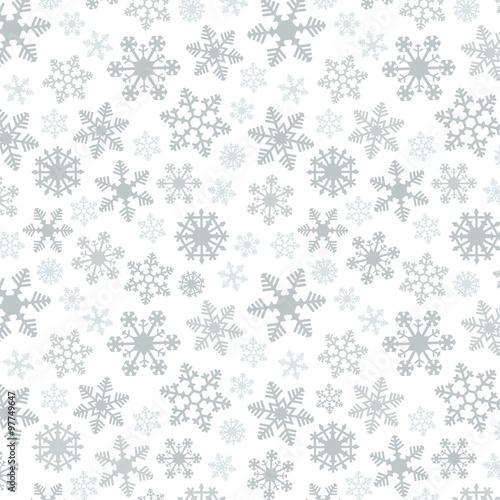 Stoffe zum Nähen Schneeflocke einfachen Vektor Musterdesign 2 Silber