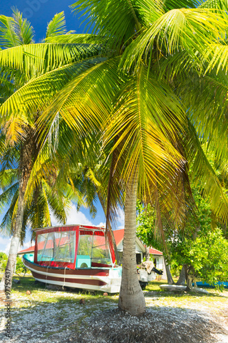 Poster  Paradise Blick auf Rangiroa Atoll, Französisch-Polynesien