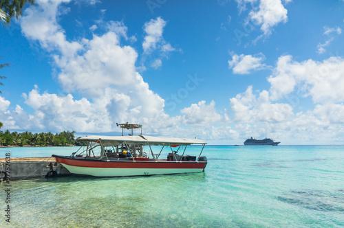 Leinwand Poster  Paradise Blick auf Rangiroa Atoll, Französisch-Polynesien