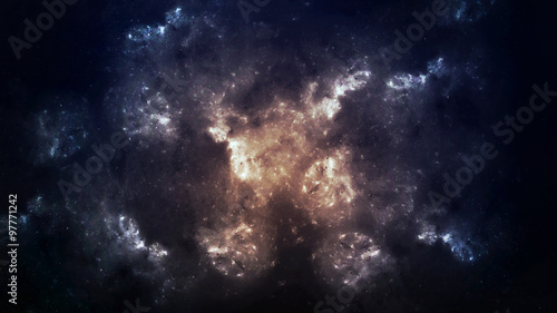 Deurstickers Nasa Beautiful space background. Elements of this image furnished by NASA