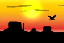 Western Desert Background
