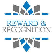 Reward Recognition Blue Grey Elements Square