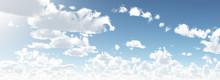 Shiny Day Blue Sky 3d Illustration