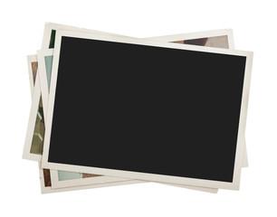 Fototapeta Stack of photos isolated