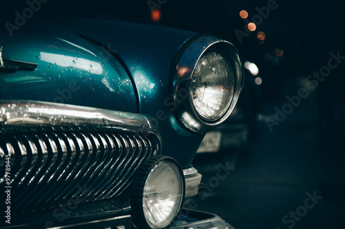Headlight of old car Slika na platnu