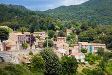 Vangone, Corsican Village Landscape In Summer