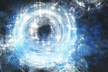 Fototapeta Sternenwelt Fantasie Galaxie Malerei mit digitaler Beabeitung