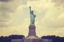 Vintage Toned Statue Of Liberty, NYC, USA