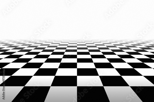 Checkered Background In Perspective Canvas Print