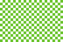 Green Seamless Pattern Chessboard
