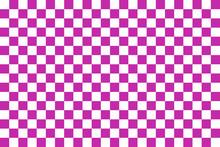 Purple Seamless Pattern Chessboard
