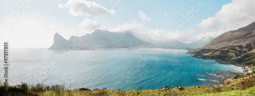 Hout Bay from Chapman's peak Drive, South Africa.