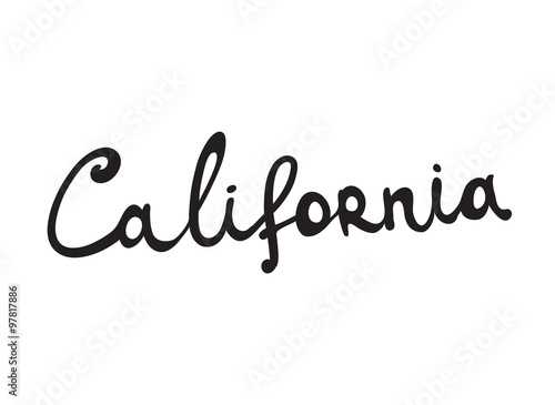 Hand-written word CALIFORNIA, lettering #97817886