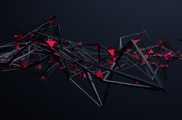 Abstract 3D Rendering of Ch...