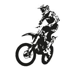 Motocyklista. Sylwetka wektor