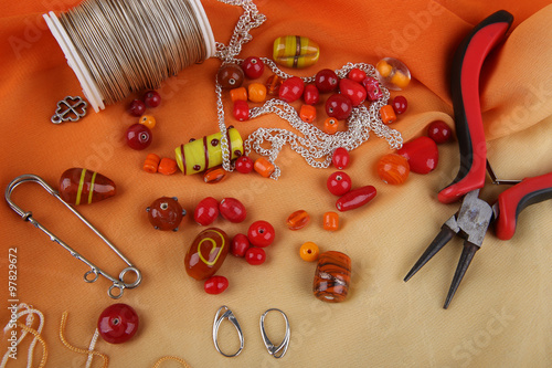 Fotografía  Bead jewelry making as a hobby