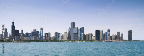 Chicago Skyline, Illinois, America, USA