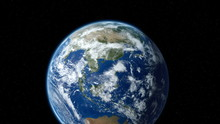Earth Zoom To Europe Through T...