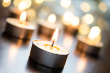 Golden Romantic Tealights In B...
