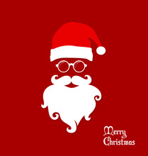 Hipster Santa Claus, Party, Gr...