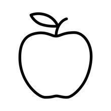 Delicious Apple Line Art Icon ...