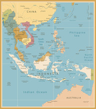 Southeast Asia Map Detailed Vi...