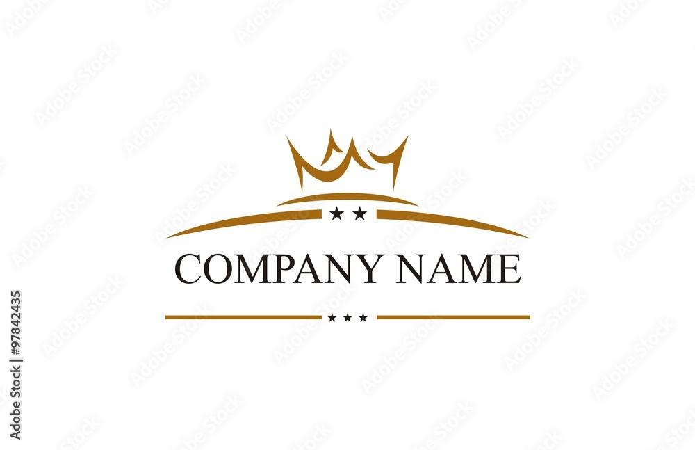 Fototapeta crown star company logo