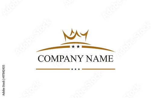 Photographie crown star company logo