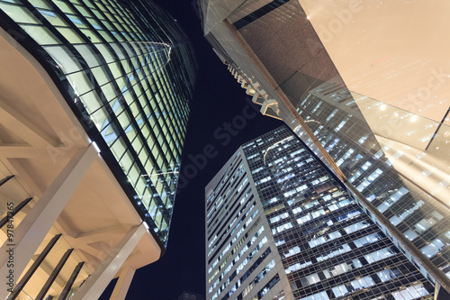 Fototapety, obrazy: Brisbane city buildings at night